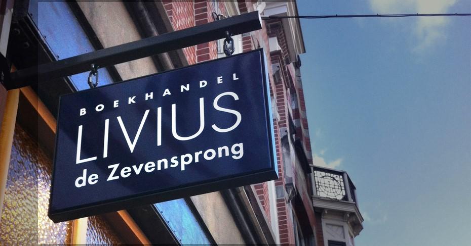 Boekhandel Livius de Zevensprong - uithangbord - 013 Straatjes Dwaalgebied Tilburg